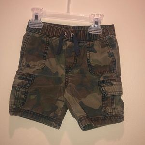 Toddler boys camo cargo shorts 2t